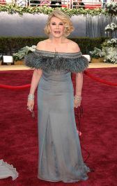 File photo dated 05/03/2006 of Joan Rivers arriving on the red carpet at the Academy Awards