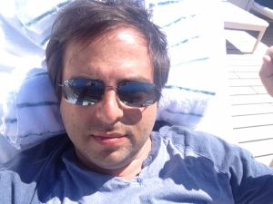 A Serenity selfie: I bloody sat on those sunglasses the next day.