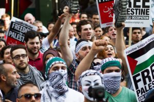 'V for Vendetta'-masked anarchists and sanctimonious students, getting up early to look cool in keffiyehs.