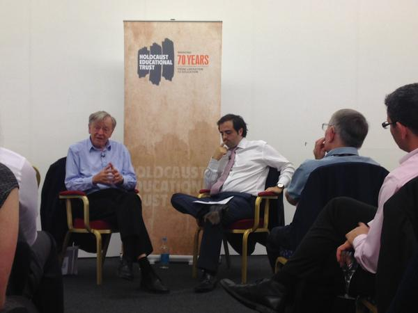 In conversation with the remarkable Lord Dubs, a kindertransport child who has dedicated much of his political life to the plight of refugees. [Labour Party Conference, 28/9/15]