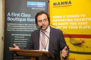 Addressing the annual MANNA [Meir Panim UK] Parliamentary reception in the House of Commons.
